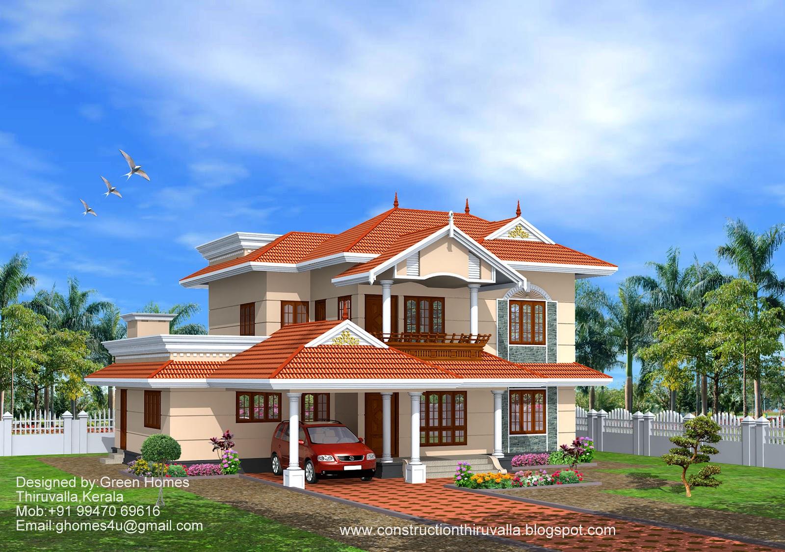 Green Homes Beautiful Kerala Model Home 2850