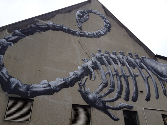 Work In Progress by ROA For Rise Street Art Festival In Christchurch, New Zealand. 1