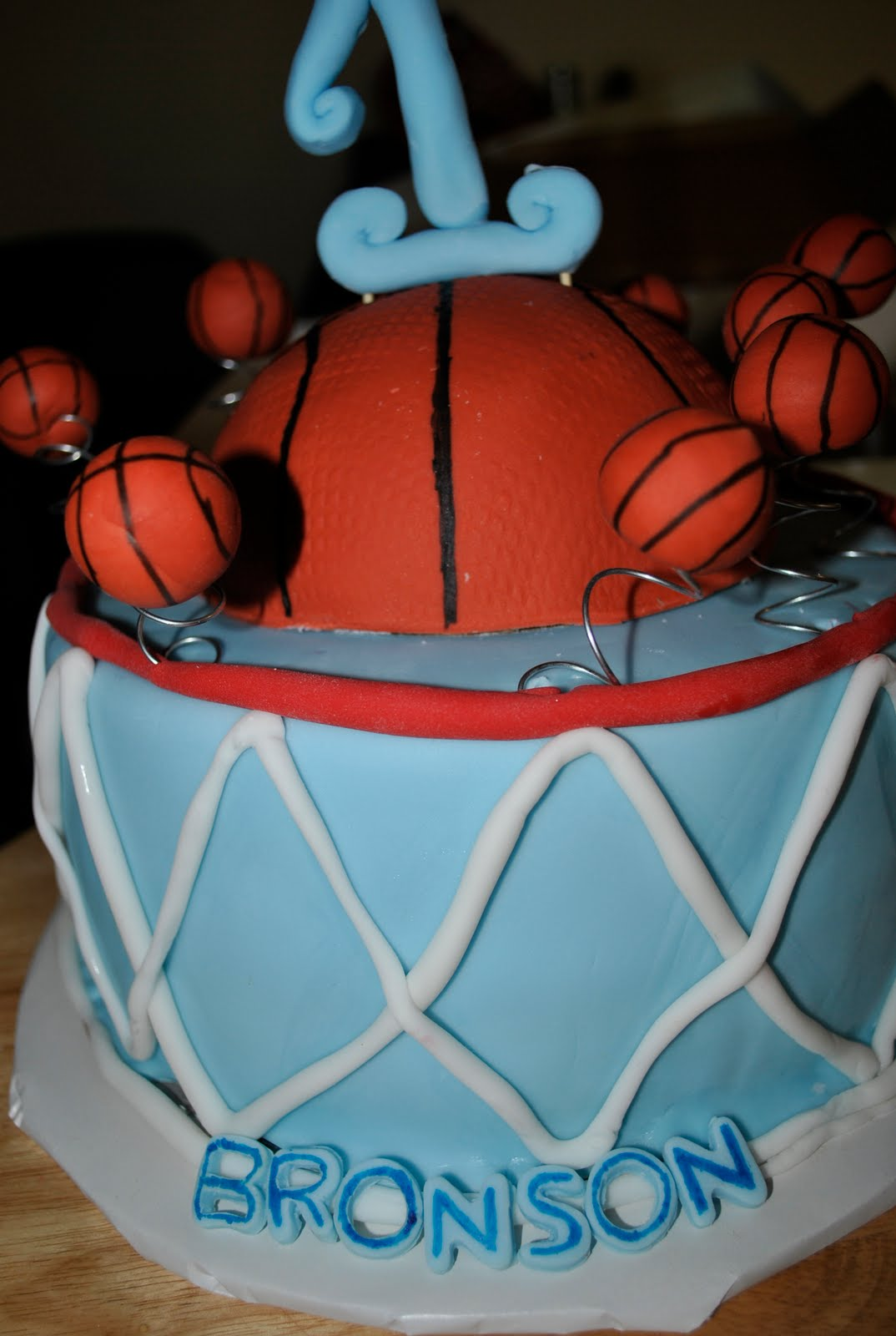 Sweet Creations Basketball Cake and Cupcakes