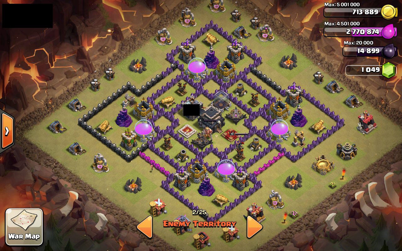 Coc base 99 th 9 war base 7