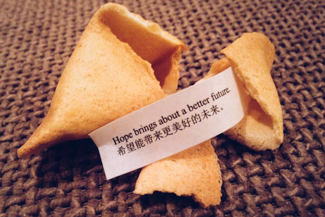 Fortune cookie - hope brings about a better future