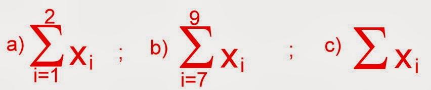 Problemas de somatória com a notação sigma