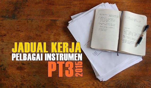 Jadual Kerja Pelbagai Instrumen Sejarah PT3 2015