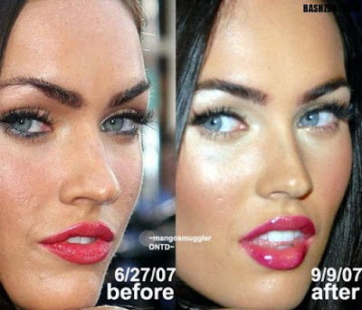 megan fox before and after photoshop