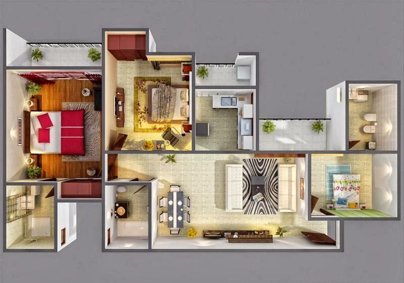 Foundation Dezin Decor 3d Simple Home Layout 39 S