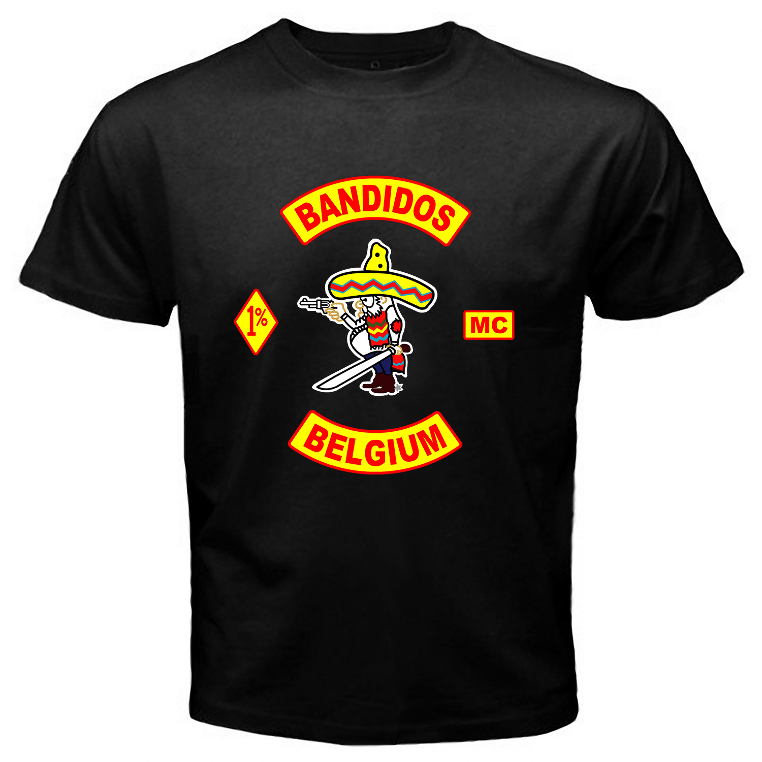 Bandidos Belgium Black T-shirt One Side