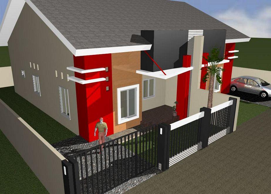 contoh rumah type 90 minimalis tampak depan