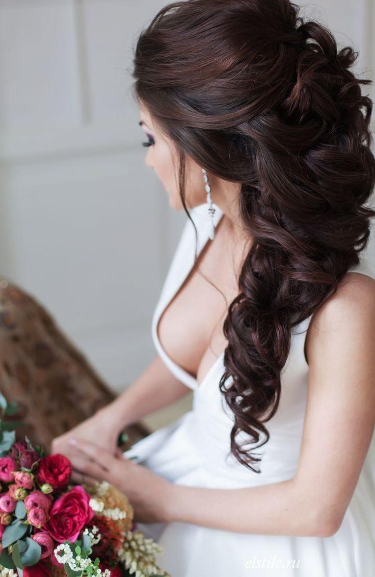 Свадеб прически на длинные волосы фото