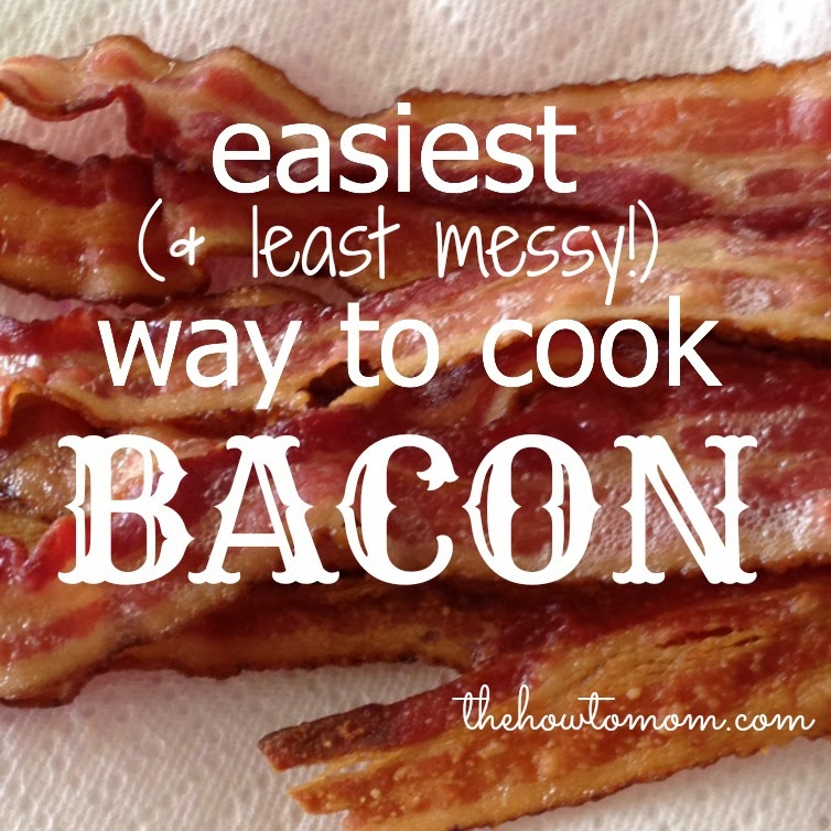 easiest and least messy way to cook bacon the how to mom. Black Bedroom Furniture Sets. Home Design Ideas