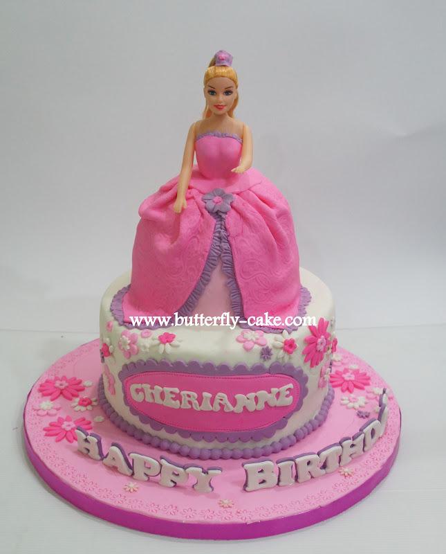 Butterfly Cake: Barbie Doll Cake for Cherianne