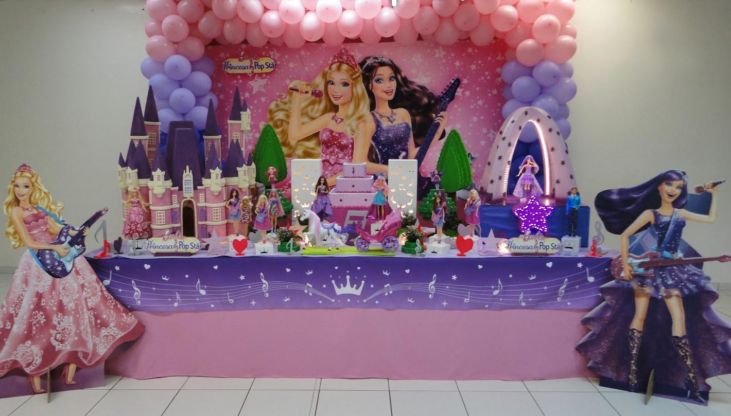 decoracao festa barbie : decoracao festa barbie:Personalizando Festa: Festa da Barbie Pricensa e a Pop Star