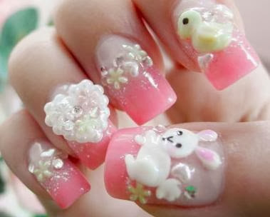 Cute Nail Art for Cute Baby
