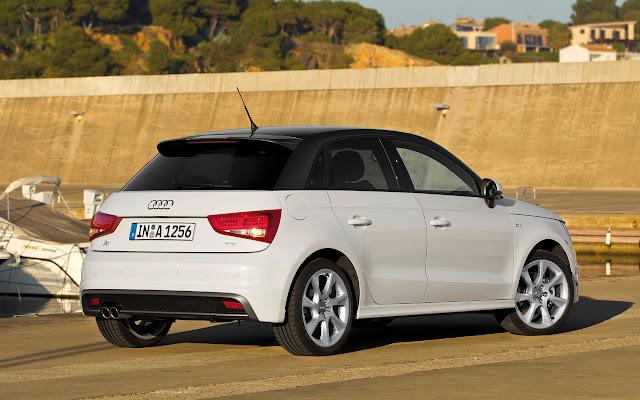 The Audi A1 Sportback back