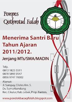 Penerimaan Santri Baru 2011/2012