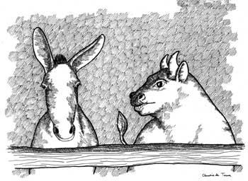Fabula el asno y el buey