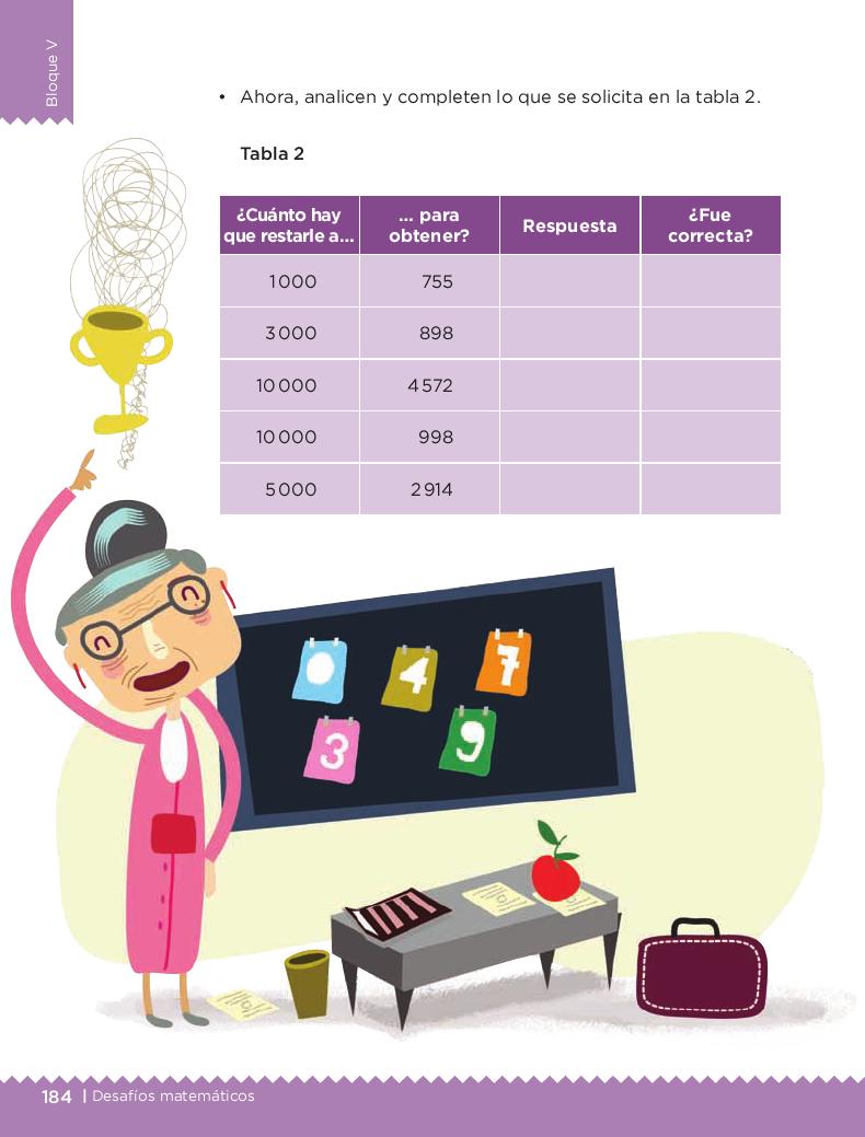 ¿Cuánto le falta? - Desafios matemáticos 4to Bloque 5 2014-2015