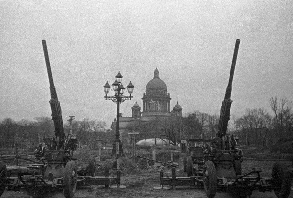 St Isaac's Cathedral, Leningrad, during the siege
