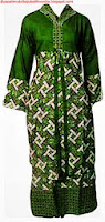 Model baju batik gamis muslim
