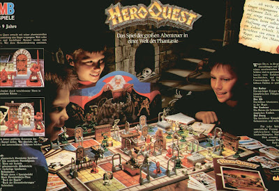 Back of the HeroQuest box with kids playing