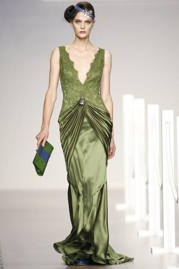 Vestidos de fiesta color verde musgo