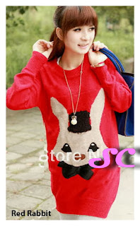 grosir baju rajut model red rabbit