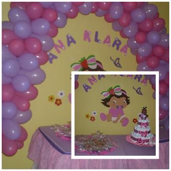 Chá de fraldas da bebê Ana Klara ficou  show!