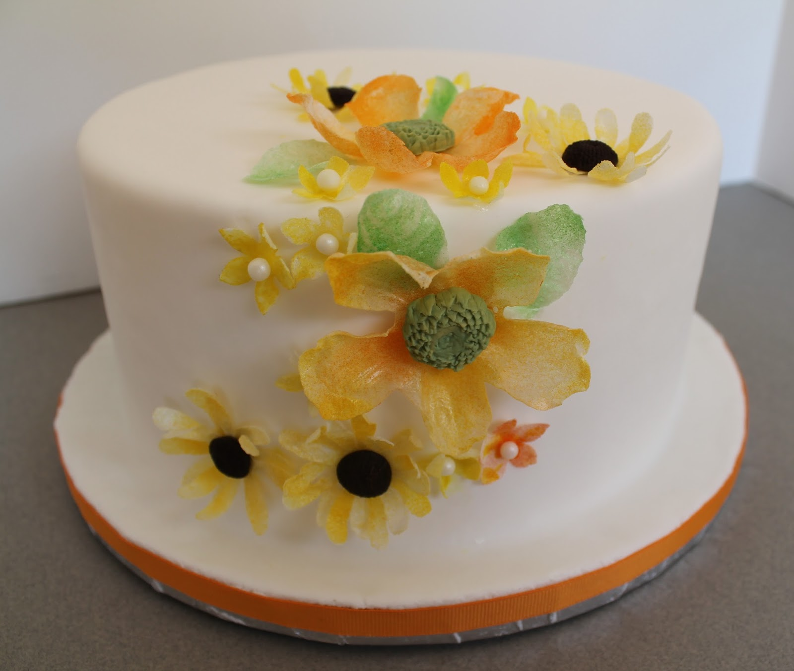 Decorate The Cake Wafer Paper Flowers For Fall