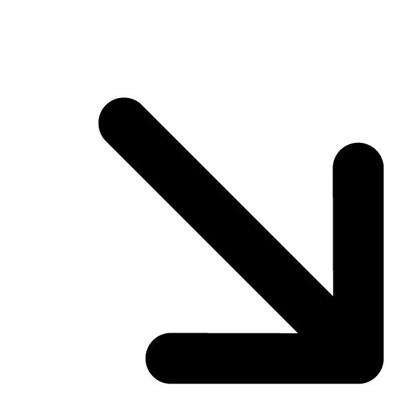 Arrow Pointing Down Symbol