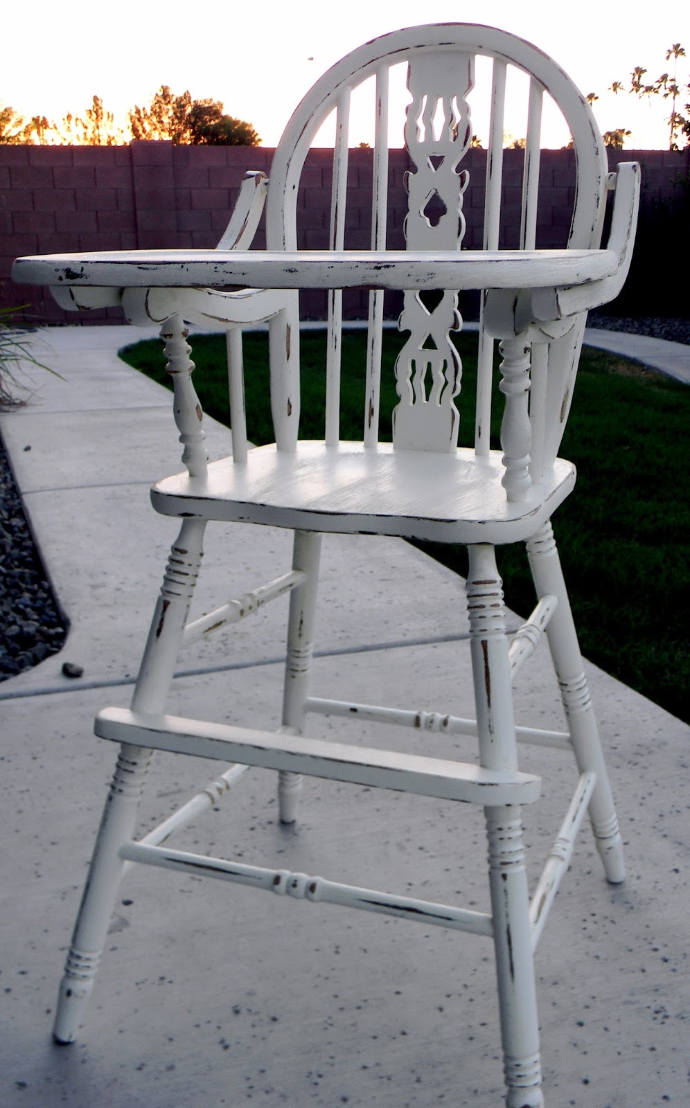 little bit of paint refinished antique high chair - Refinish Wooden High Chair. High Chair Re Do Heidi S Habitat