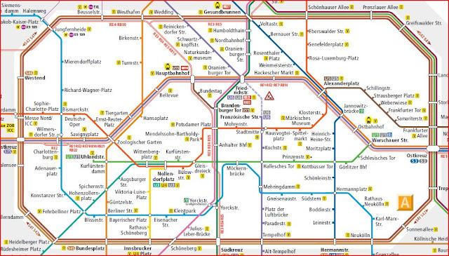 Map Berlin Metro (Centre)