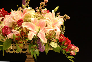 Splendid Stems Event Florals - Wedding Centerpiece on Cake Plate - Hilton Hotel Albany Crowne Plaza