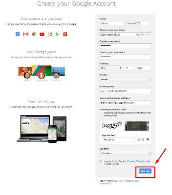 Cara Cepat daftar Email Gmail di Google