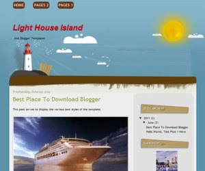 Light House Island Blogger Template