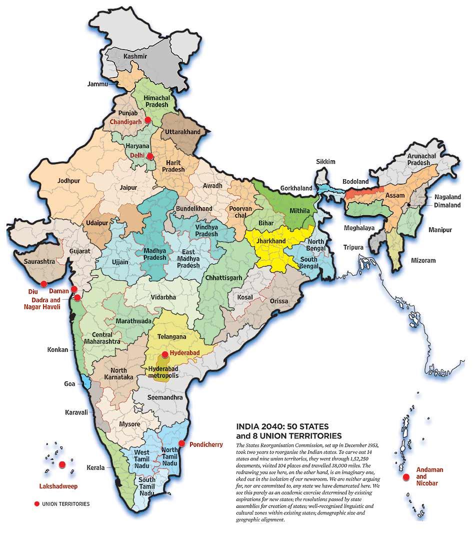SUGATA SRINIVASARAJU India 2040 50 States 8 Union Territories