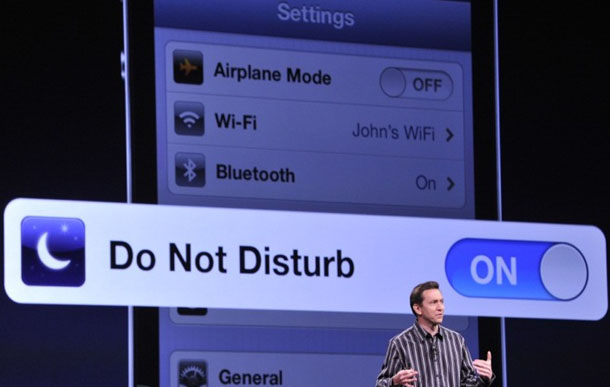 Do not Disturb in iOS 6