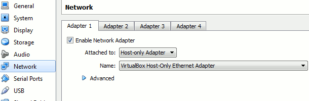 virtualbox network setting to enable 3d hardware acceleration opengl
