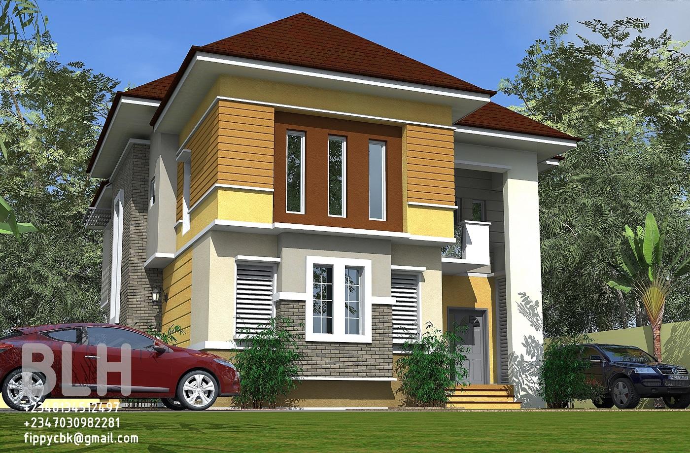 Architectural designs by blacklakehouse 4 bedroom duplex for Duplex designs