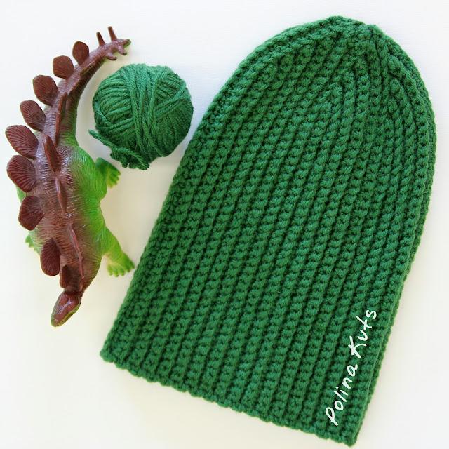 Вязание шапок крючком резинкой 847