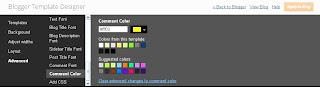 Komentar blog, font komentar, warna font komentar, ukuran font komentar blog