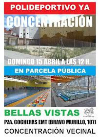 Concentración vecinal: Polideportivo Bellas Vistas ¡Ya!