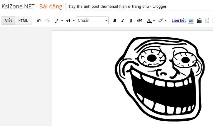 Thay thế ảnh post thumbnail hiện ở trang chủ - Blogger