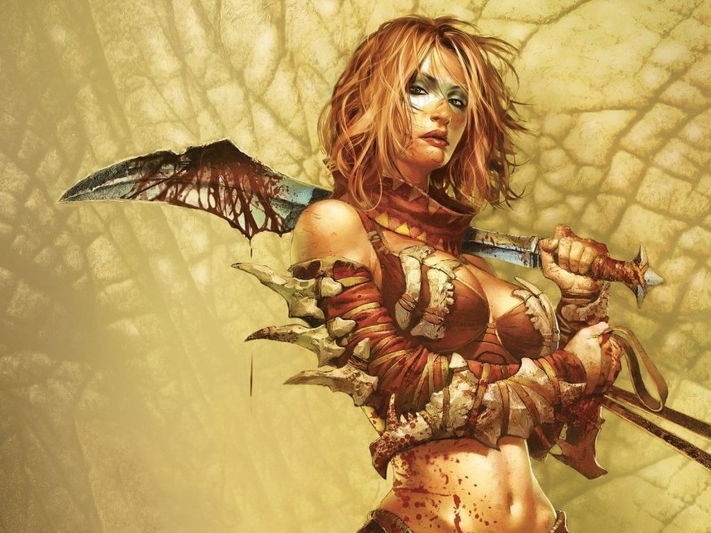 Cartoon picture fantasy girl wallpaper - Fantasy female warrior artwork ...