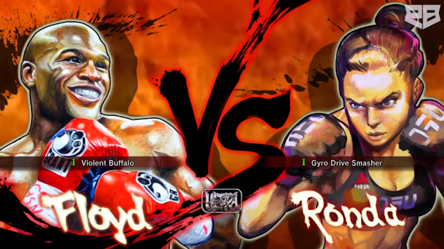 Mayweather vs Rousey Street Fighter