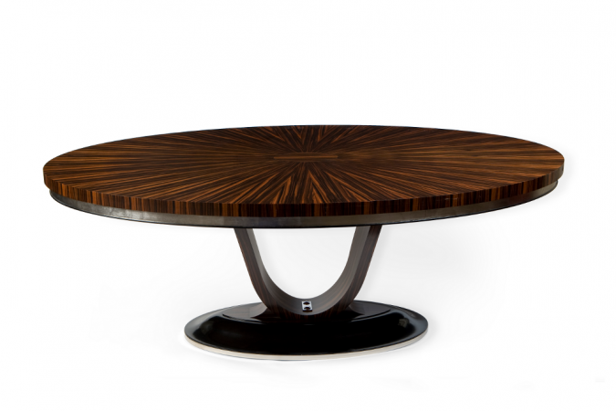 Art Deco Oval Dining Table