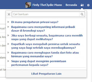 Pintasan Privasi Facebook