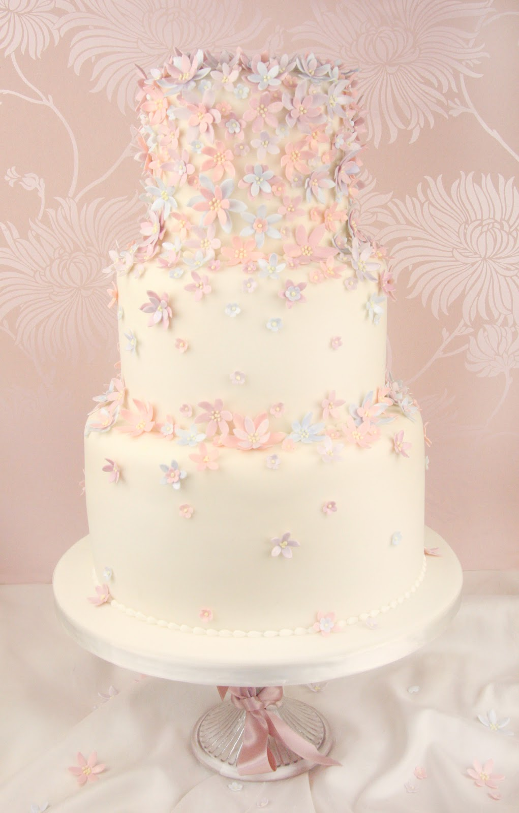 Life Is What You Bake It Cascading Daisy Wedding Cake