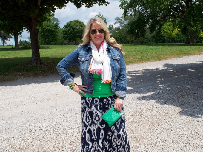 green-blue-ikat-scarf