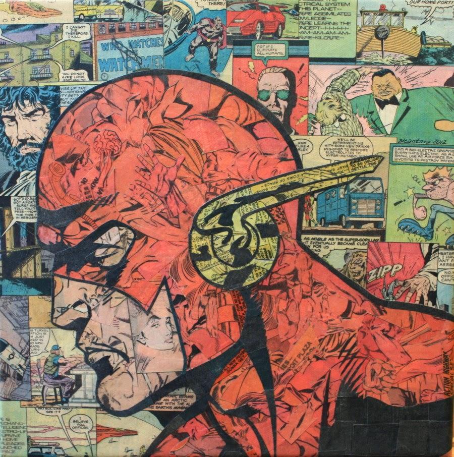 06-Flash-Mike-Alcantara-Comic-Collage-Art-www-designstack-co