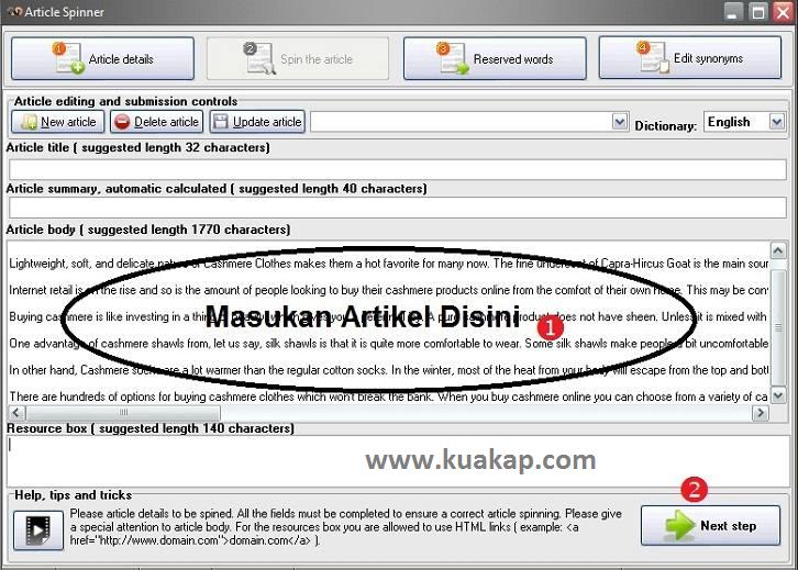 Free Download Software / Tools Article Spinner Dan Tutorial Cara Menggunakanya