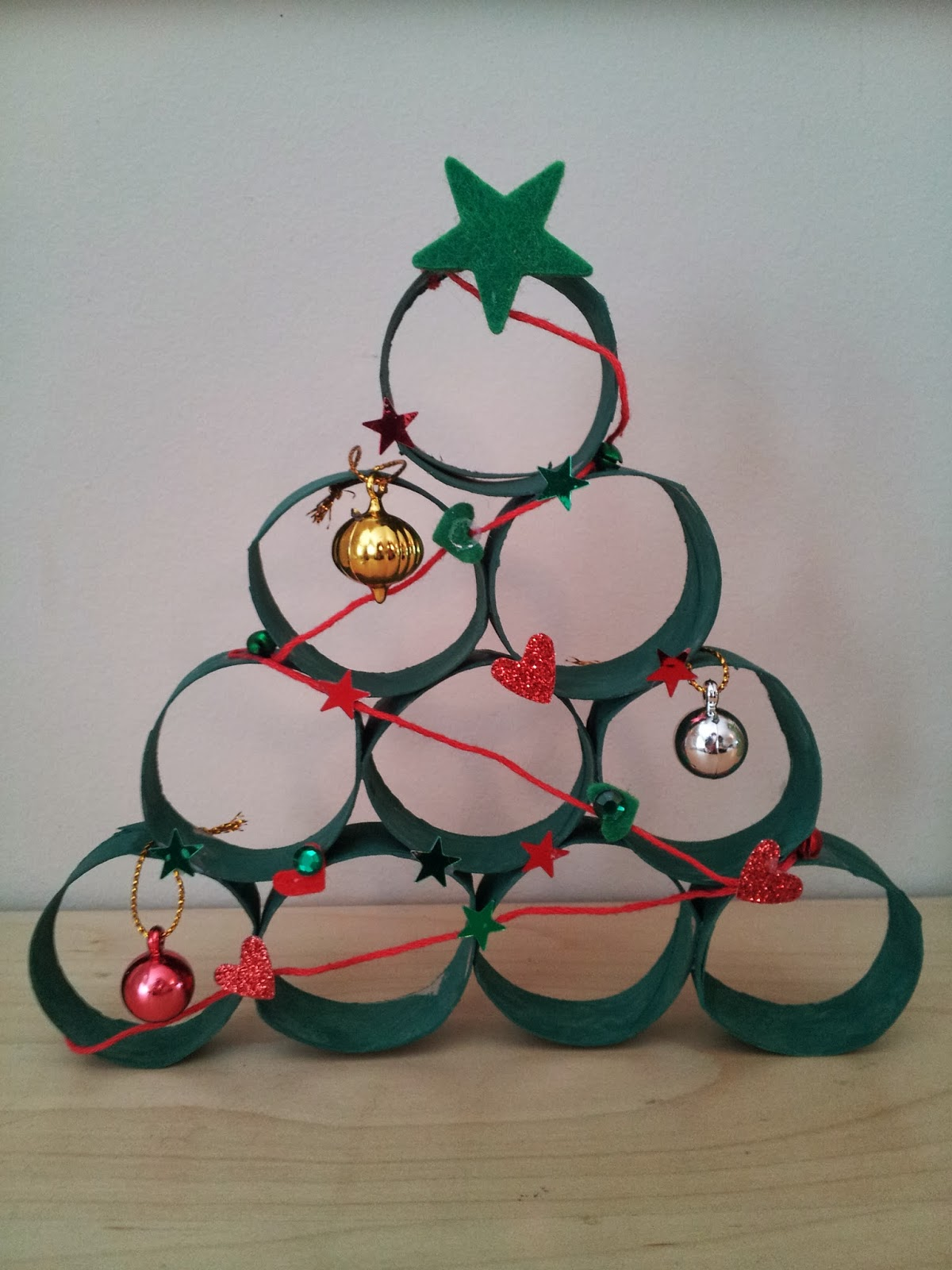 Toilet roll Christmas tree craft, kids craft, Christmas craft